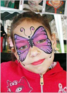 Lila pillangós arcfestés