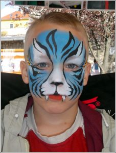 Kék tigris arcfestés