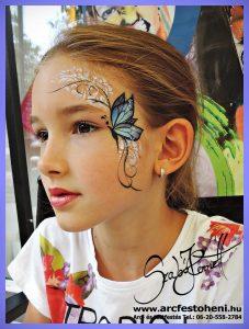 Pillangós indás arcfestés