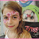 Virágfűzér arcfestés