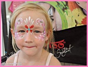 Lányos arcfestés
