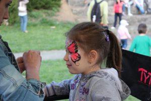 Pink Pillangós arcfestés